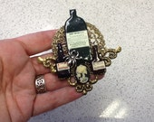 Halloween Gothic Mini Poison Potions Brooch Pin 2