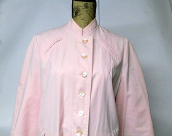 Vintage Rain Coat Trench Coat Pink Toile Lining Misty Harbor Outerwear Women's Medium