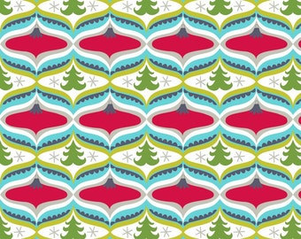 Treelicious - Garland in Red - Maude Asbury for Blend Fabrics- 1/2 Yard