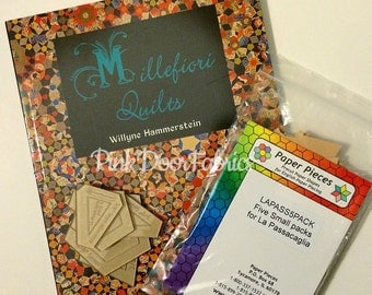 Millefiori Quilts - by Willyne Hammerstein - Book, Acrylic Templates, and Paper Pieces Starter Pack