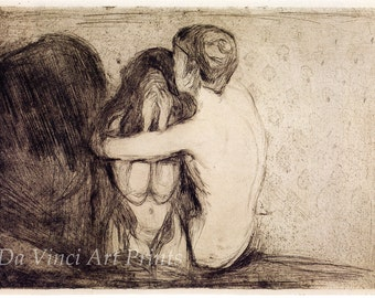 Fine Art Reproduction. Consolation, 1894 by Edvard Munch. Fine Art Print.