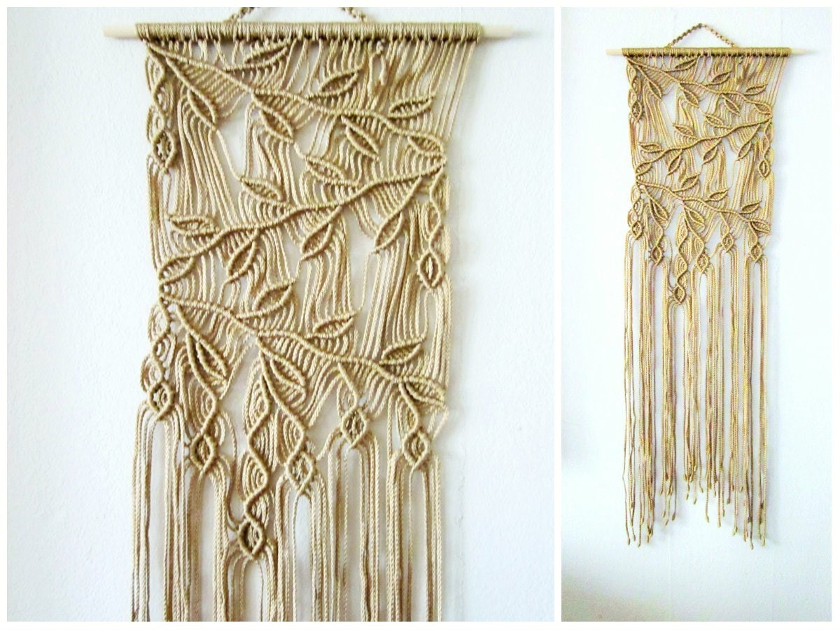 Macrame wall hanging sprigs 2 handmade macrame home decor for Home decor wall hanging