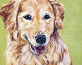 CUSTOM Dog Portrait Oil Painting 12x12 Pet Memorial Birthday Holiday Gift