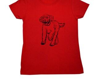 Labradoodle Screen Printed Women's T-Shirt S M L XL 2XL Dog Shirt