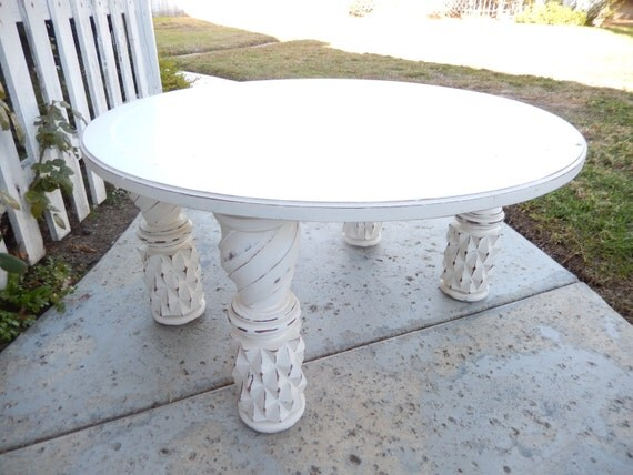 Round Coffee Table Shabby Coffee Table Painted Coffee