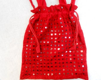 Vintage Red Purse from the 60s disco Era.