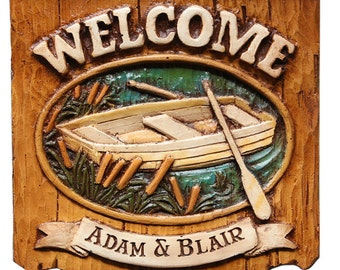 Welcome Lake Personalized Sign