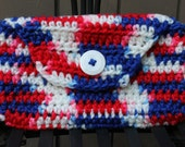 Red White and Blue Clutch Wallet Purse Pouch