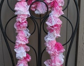 Pretty in Pink Sparkle Ruffle Scarf