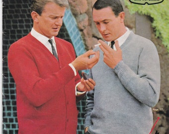 Vintage 1960s - Knits for Men Vintage Knitting  Book No 680 Jumpers, Sweaters, Vest, Cardigans Knitting Patterns