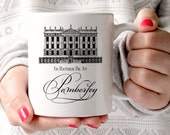 Jane Austen Mug, Pride & Prejudice Mug, I'd Rather Be At Pemberley, Book Mug, UK