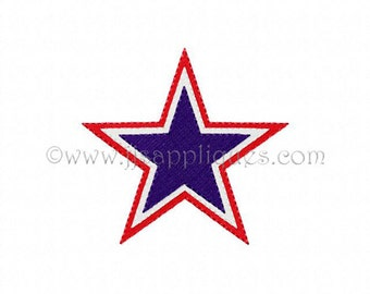 3 Tiered Star Embroidery Designs, 4th of July, Cheerleading Design Star, Sports Embroidery Star, 7 sizes for 4x4 hoops - Instant Download