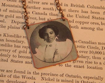 Black History necklace African American jewelry History jewelry mixed media jewelry