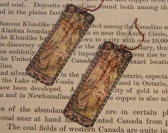 Mucha earrings Joan of Arc art earrings mixed media jewelry