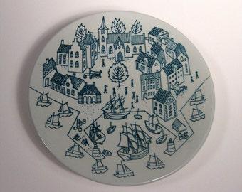 1960s Nymolle Danish Art Plate