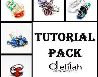 30 % OFF Rings Tutorial Pack 7 Wire Wrap Ring Tutorials Wirework Adjustable Ring Herringbone Ring Tutorial Flower Ring Tutorial Jewelry