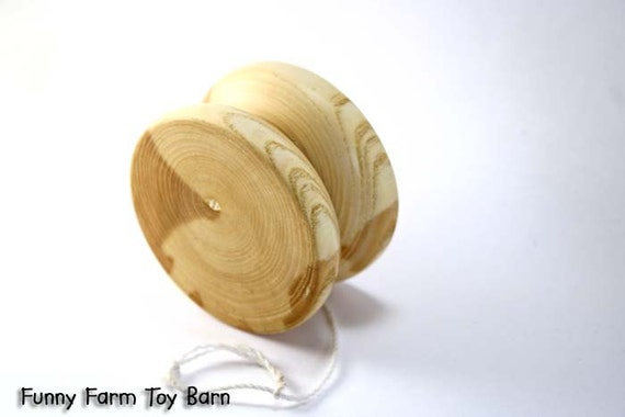 Butterfly Style YoYo Hand Turned Soild Wood Party Favor Kids Toy All Natural Yo-Yo Easter Basket Filler