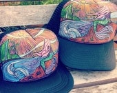 Mother & Daughter Mermaid Trucker Hat by Roupolimama