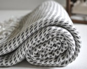 Turkish Towel Peshtemal towel in grey color Bamboo Woven pure soft in rice pattern