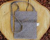 Crossbody Bag, Hipster Bag, Fabric Shoulder Bag, Sling Bag, Brown/Taupe