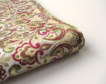 Gold red green heavy Indian silk brocade fabric nr 561 fat quarter