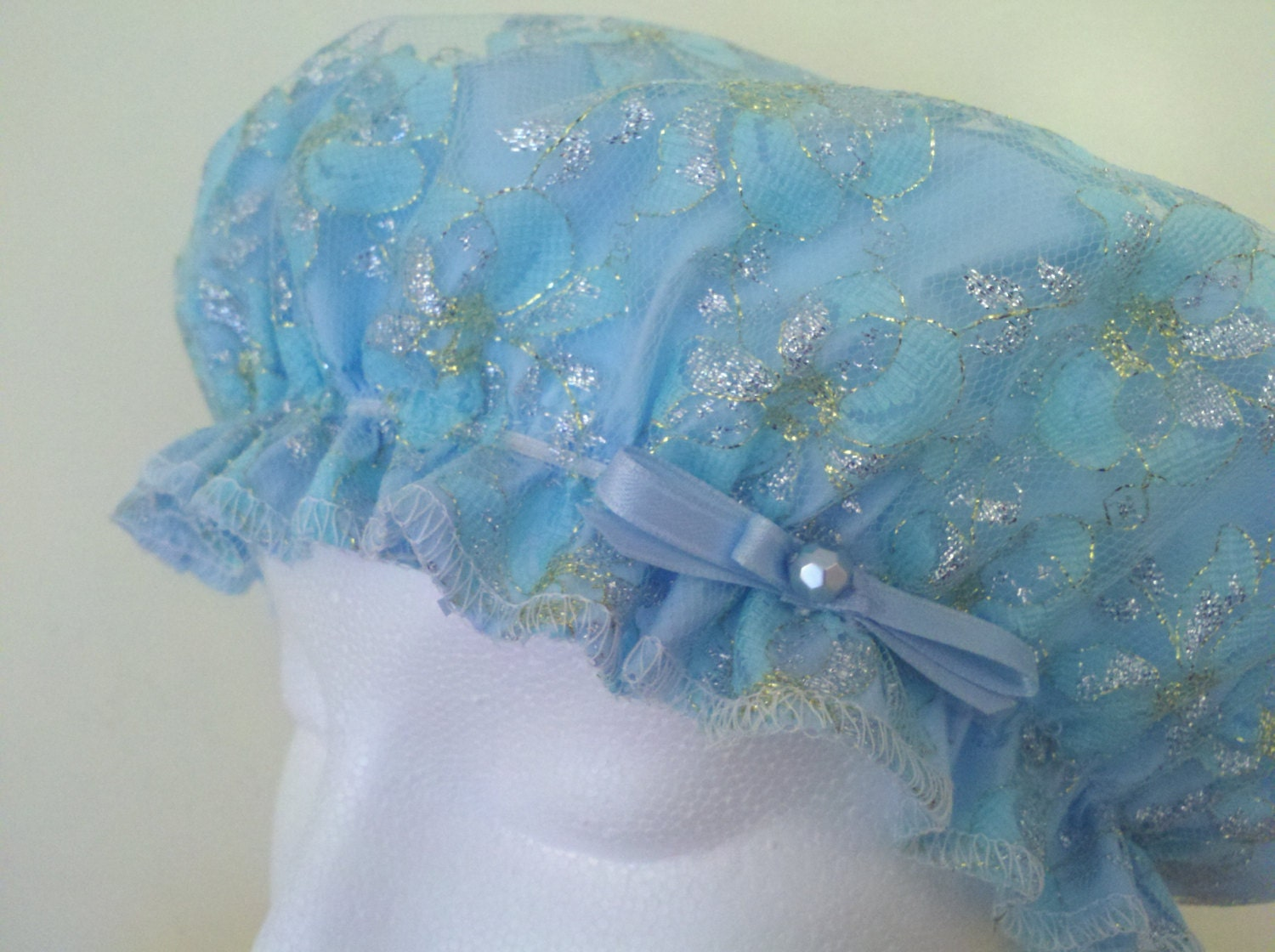 how to make a shower cap bonnet