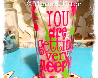 16 oz You are getting very sleepy..... CRNA, Anesthesiologist Acrylic Tumbler, anesthesia gift, delivery gifts