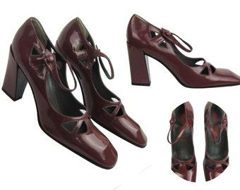 Reduced MIU MIU  Cut Out Patent Leather Vintage Shoes