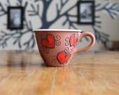 Espresso mug with hearts