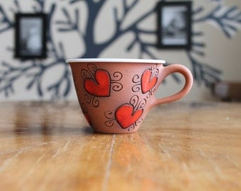 Espresso mug with hearts