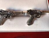 Original Vintage SWANK Famous Gun German Luger Cufflinks