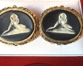 Rare Vintage Dante Museum Masterpiece Cufflinks The Lovers