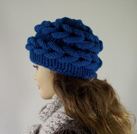 Knitting Tutorial For Beginners Pdf : Knitting hat pattern braid aralenna winter