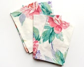 Vintage Garden Floral Cloth Napkins- Set of 4- Limited Edition