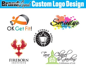 Custom Logo Design Business Logo Design for Photographers and Small Crafty Businesses - Unlimited Revisions