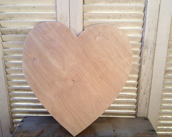 Unfinished Wooden Heart Pattern no. 14, Unpainted Heart Crafting Supplies, Paint It Yourself Heart, Thin Wood Heart