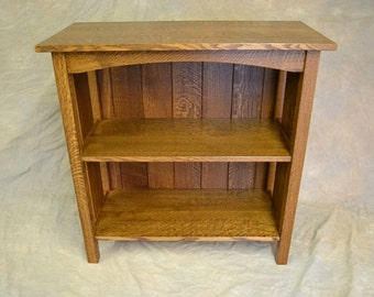 Charming Full Back Mission Oak Bookcase Free Shipping