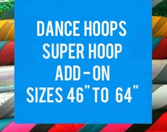"""Super Hoop - Make hoop over 46"""" ADD ON for DanceHoop Hula Hoops"""