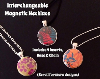 Floral Interchangeable Magnetic Necklace