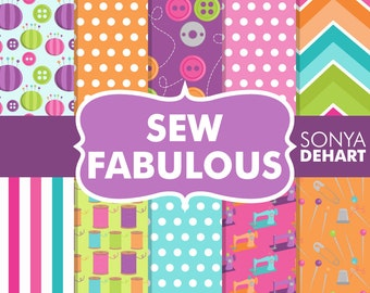 70% OFF SALE Sewing Digital Paper, Sewing Backgrounds, Digital Sewing, Sewing Scrapbook, Sewing Papers, Sewing Digital, Scrapbook Pages