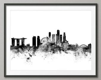 Singapore Skyline, Art Print (1548)