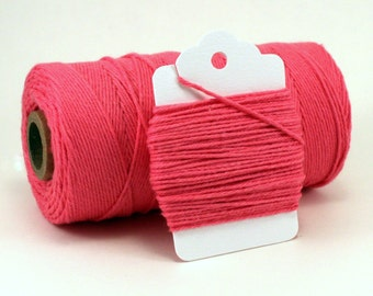 Solid Pink Baker's Twine . Solid Deep Pink Divine Twine . Choose Any Number of Yards