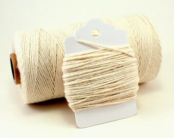 Ivory Baker's Twine - Cream Twine - Natural Divine Twine - Cream Color Twine - Off White String - Natural Twine - Rustic Gift Wrap String
