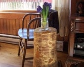 Tree Stump End Table with Legs