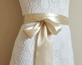 WEDDING SASH belt bridal satin ribbon 10 colors