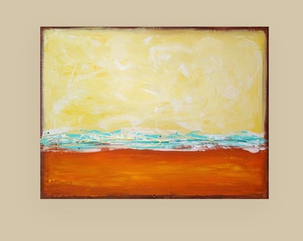 Art, Acrylic, Abstract Acrylic Painting, Original Painting by Ora Birenbaum Titled: Summer Love 3 30x40x1.5""