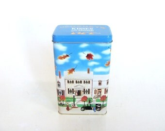 Hershey's 1990 Hometown Series Canister Tin #6, Advertising Candy Tin Box, Storage Kitchen Tin, Made in USA