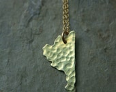 Gold State necklace