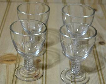 Vintage Hazel Atlas Sherry Cordial Wine Communion Glasses - Set of 4