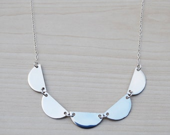 Sterling Silver Scalloped Necklace